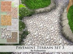 The Sims Resource: Pavement Terrain Set 3 by PralineSims • Sims 4 Downloads