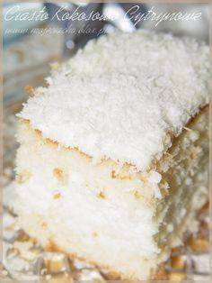 Ciasto kokosowo cytrynowe
