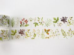 Botanical Herb Floral Washi Tape by PapergeekCo on Etsy                                                                                                                                                                                 More