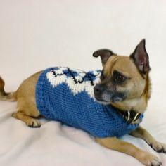 Blue Argyle Dog Sweater - Me... from AllThingsTangled on Wanelo