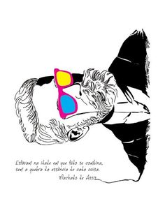 camiseta Machado de Assis Grafik Design, Beauty Quotes, Disney Characters, Fictional Characters, Draw, My Favorite Things, Poster, Writers, Collage