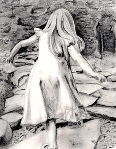 Issie Walking, charcoal. Oh Cheri you are so talented. What a gift