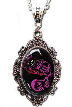 Cheshire Cameo Necklace by Alkemie Apparel - Inked Boutique