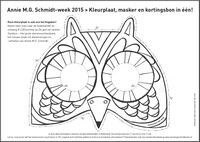 13 - 23 mei 2015 is het weer Annie M.G. Schmidt-week! Dit jaar in het teken van Het grote dierenfeest. Daarvoor zijn diverse lesmaterialen beschikbaar. Zoals deze kleurplaat van het masker (tevens kortingsbon voor NL!).  Download al het lesmateriaal op http://www.anniemgschmidtweek.nl
