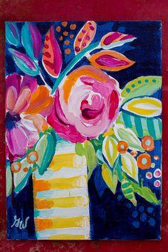 Étude+des+fleurs+abstraites+no+01++peinture+par+AlaskanGrace