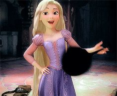 Tangled Rapunzel and her frying pan Disney