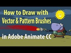 How to Draw with Vector and Pattern Brushes in Adobe Animate CC - YouTube Digital Media, Digital Art, Adobe Animate, Adobe Audition, Adobe Illustrator Tutorials, Animation Tutorial, 3d Drawings, Vector Illustrations, Photoshop Elements