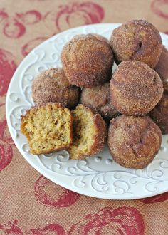 Perfect for Fall!  Pumpkin Spice Doughnut Muffins - by Glorious Treats