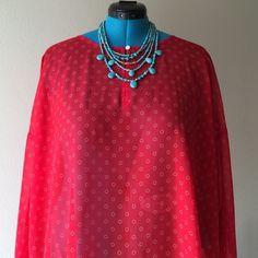 🚨FLASH SALE🚨 Blouse Orange sheer blouse Old Navy Tops Blouses