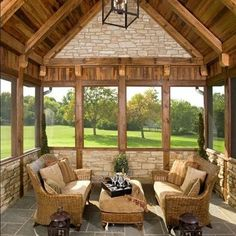 As close to outdoors as one can get, this beautifully constructed space may just be the perfect 4-seasons room!