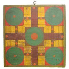 1stdibs | 19th Century Parcheesi Game Board