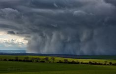 "A low topped shower of sleet ""like a haboob"" hits central thuringia/germany on February 05, 2012."