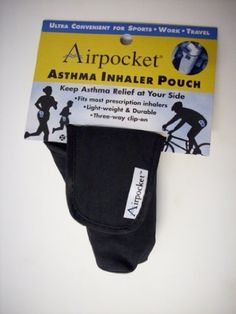 Airpocket Original Quick Draw Inhaler Case: Black by Airpocket. $8.99. Attractive, discreet and durable, Airpocket makes carrying uour inhaler easy and hassle free. Whatever lifestyle you enjoy, the three way clip on lets you take your asthma relief along wherever you go and whatever you do.