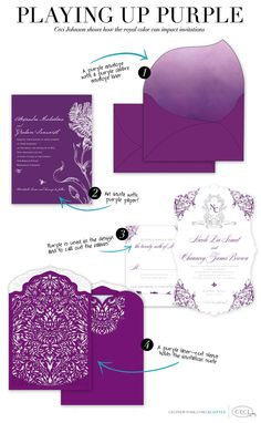 Playing Up Purple - Ceci Johnson shows how the royal color can impact invitations - Luxury Wedding Invitations by Ceci New York