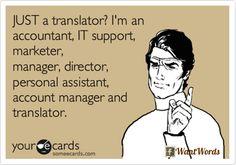 JUST a translator? | Photo: Marta Stelmaszak @ WantWords. http://wantwords.co.uk/martastelmaszak/2337/lesson-35-competition-translation/