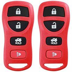4-Btn Remote Transponder EDLUX Keyless Remote Replacement Compatible for Infiniti and Nissan KBRASTU15 Key
