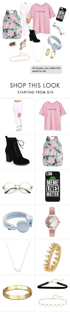 """""""Keep It Simple"""" by kokolovely ❤ liked on Polyvore featuring MANGO, Journee Collection, ban.do, Urbanears, Olivia Burton and Kendra Scott"""