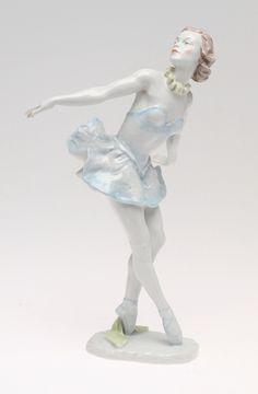 Ballerina figurine, L. Fr. Gronau, Rosenthal.
