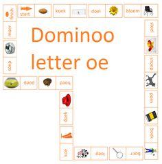 Dominoo met de letter oe. Leuk om te gebruiken bij Lijn 3, thema 3 - Digibord Onderbouw