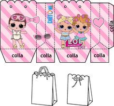 Scatola Lol Surprise Fai da te - Stampa gratis il template e realizza un box - Lol Surprise Box Template 4th Birthday Parties, 7th Birthday, Decoration Communion, Surprise Box Gift, Paper Box Template, Doll Party, Party In A Box, Lol Dolls, Diy And Crafts