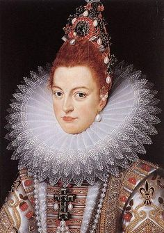 Isabella Clara Eugenia of Spain (12 Aug. 1566-1 Dec.1633), Infanta of Spain, Archduchess of Austria,daughter of King Philip II of Spain and Elizabeth of Valois-Anonymous 17th cent.master After Frans Pourbus the Younger (1569-1622),oil on panel.60x42cm. Groeningemuseum.