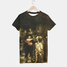 Why just look at art when you can also wear it?! THE NiGHTWATCH BY REMBRANDT T-shirt, Live Heroes