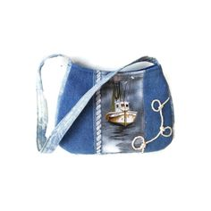 Nautical bag Denim Shoulder bag Small Hip bag by gypsygirlfashions