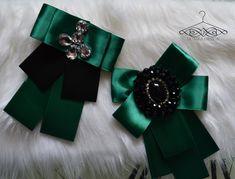 smaragd brooch handmade by domkadesign