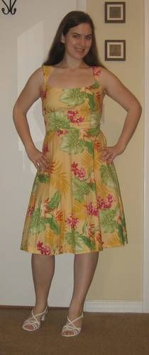 $3 yellow sundress, red dress with sleeves, and high-waisted skirt - CLOTHING