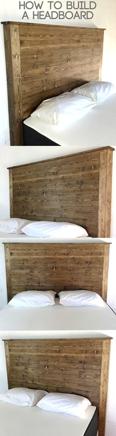 Learn how to make a DIY headboard without any complicated cuts or measurements. Witten article and video tutorial.