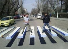 Optical illusion crosswalks in India and China | BGR