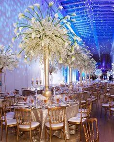 Lavish blooms, elegant draping, glamorous chandeliers, romantic lighting and candles, go ahead and let your imagination wander on these tasteful wedding inspiration from Kehoe Designs. Take a look and pin your favorite ideas! Tall Wedding Centerpieces, Flower Centerpieces, Reception Decorations, Event Decor, Table Decorations, Reception Ideas, Centrepieces, Event Ideas, Mod Wedding