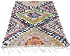 Vintage Moroccan Boucherite Rug by Antevasins on Etsy