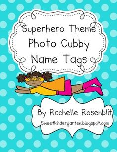 Photo Name Tags - Super Hero Theme