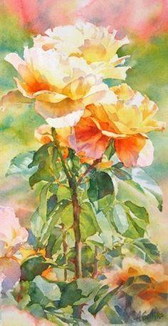 Golden Girls watercolor roses