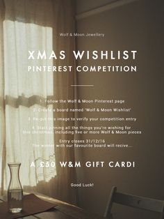 It's coming around to that festive time of year again and we're dreaming about our Christmas wishlists! If you are too, why not enter our Pinterest competit