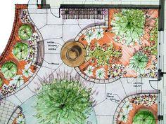 45 Ideas for garden design layout architecture Landscape Design Plans, Garden Design Plans, Small Garden Design, Plant Design, Garden Drawing, Drawing Drawing, Garden Planning, Backyard Landscaping, Landscaping Design