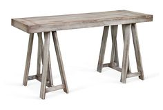 This gray table would be perfect for the entryway!