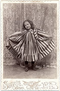Baby Sutton in a Flag Dress - Cabinet Card