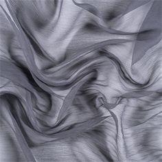 Gray Crinkled Silk Chiffon - 5100M192 - Discount Fabrics