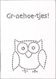 JOMMES: Zelf maken: BORDUURKAARTEN Card Patterns, Embroidery Patterns, Stitch Patterns, Diy For Kids, Crafts For Kids, Cross Stitch For Kids, Diy Presents, Pencil Bags, Cute Cards