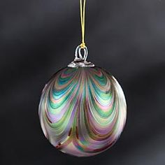 Burgundy Blown-Glass Ornament in Late Autumn 2012 from Uno Alla Volta