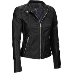 Black Rivet Womens Plus Size Snap-Tab Collar Faux-Leather Jacket... (2.570 RUB) ❤ liked on Polyvore featuring outerwear, jackets, lightweight jackets, lightweight quilted jackets, synthetic leather jacket, faux-leather jacket and vegan leather jacket