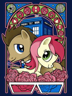 Doctor Whooves Rose. i dont ship doctor whooves n derpy any more