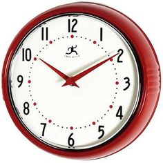The Retro Red Wall Clock