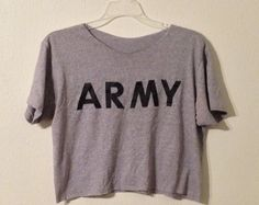 Army Crop Top  Browse unique items from SimoneAndElle on Etsy, a global marketplace of handmade, vintage and creative goods.