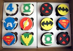 Superhero Cupcakes... Can someone make these for me and just drop them off when you have a chance... Thanks;)