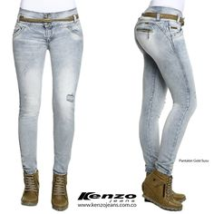 Los jeans de color claro, son una tendencia atractiva y fácil de combinar, perfectos para este fin de semana. #KenzoJeans www.kenzojeans.com.co