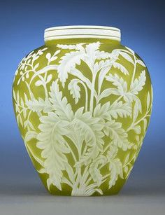 Thomas Webb & Son's cameo glass ovoid vase.