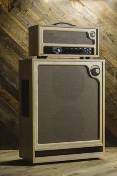 Satin Birch Pearl Head and Wave Cabinet -  Port City Amplification | Boutique Guitar Amplifiers, Cabinets, and Pedals